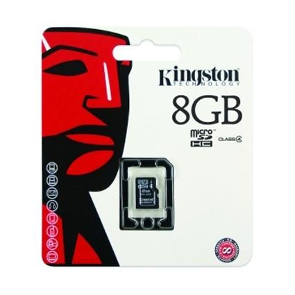Tarjeta MicroSDHC 8GB Clase 4 Kingston