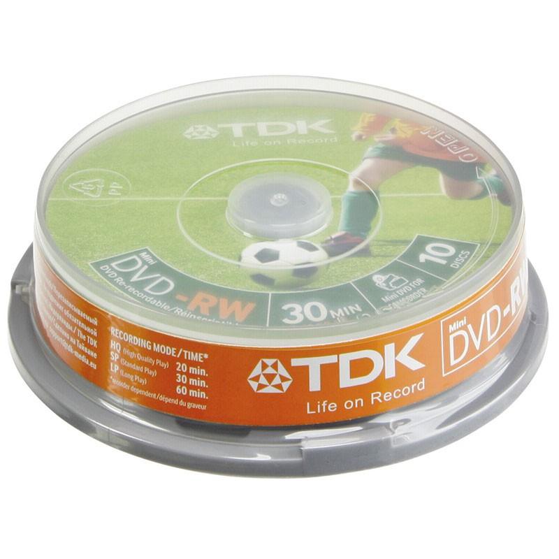 Mini DVD-RW 2x TDK Tarrina 10 uds