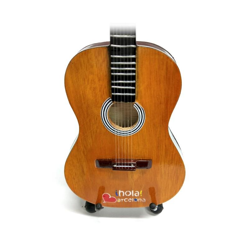 Mini Guitarra De Colección Tributo Hola Barcelona -1