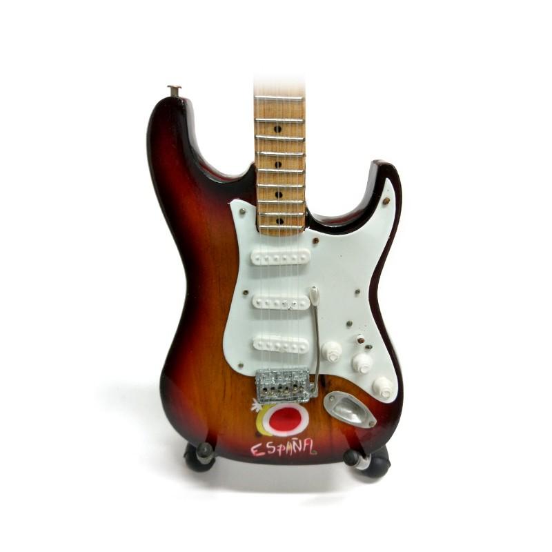Mini Guitarra De Colección Tributo España -2