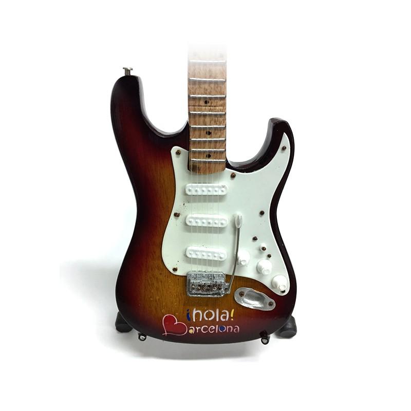 Mini Guitarra De Colección Tributo Hola Barcelona -3