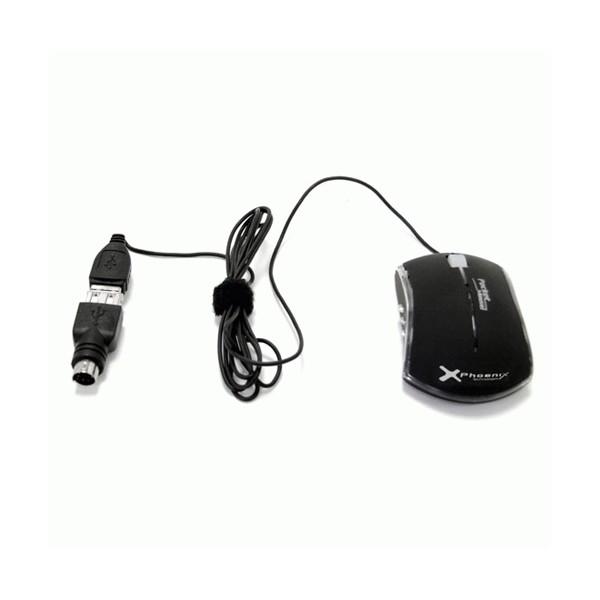 Mini-Raton Optico USB-PS/2 Phoenix 800 DPI
