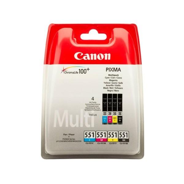 Canon Multipack de Tinta Original CLI-551 C/M/Y/BK