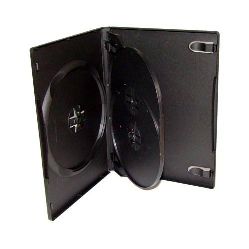 Caja Multi DVD-3 18mm Negra (1 Bandeja) AMPS 100 uds
