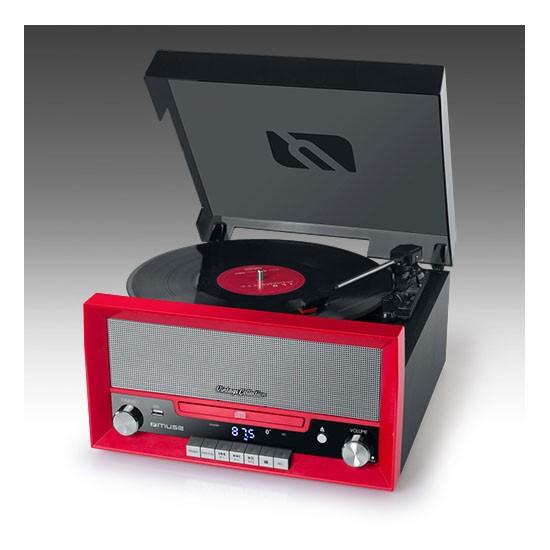 Tocadiscos + Reproductor de CD Muse MT-110 RD