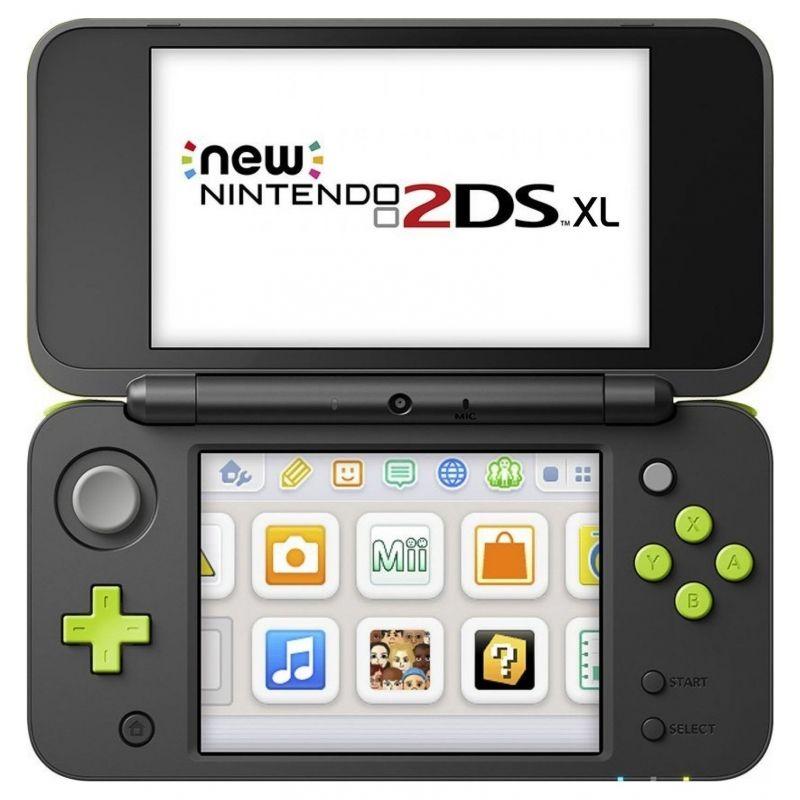 New Nintendo 2DS XL Negro Lima + Mario Kart 7