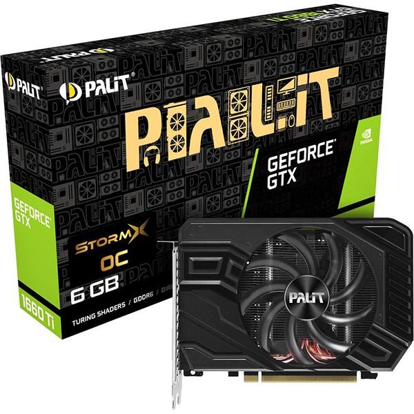Tarjeta Gráfica Palit GeForce GTX 1660 Ti StormX OC 6GB GDDR6