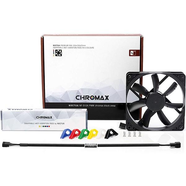 Ventilador PC Noctua NF-S12A PWM chromax.black.swap 120mm