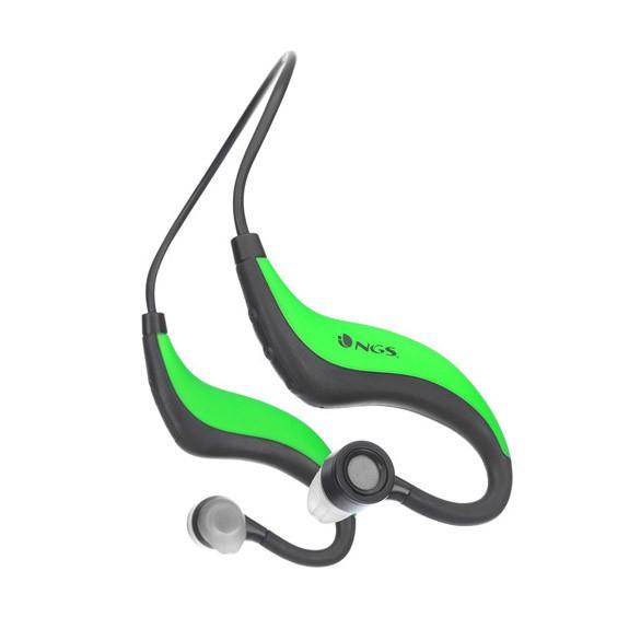 Auriculares Deportivos Bluetooth NGS Green Artica (Runner/Resistente al Agua)