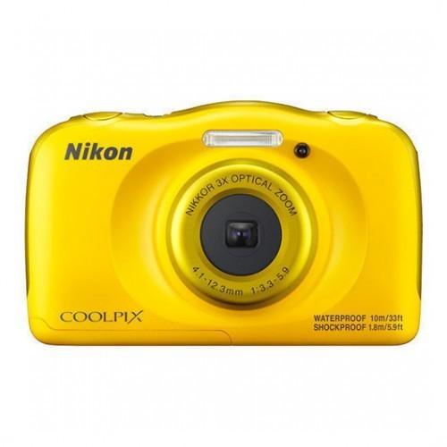 Cámara Digital Nikon Coolpix W100 Amarillo 13.2Mpx + Mochila