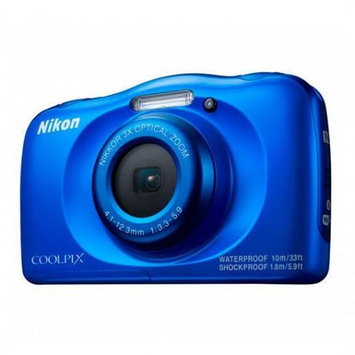 Cámara Digital Nikon Coolpix W100 Azul 13.2Mpx + Mochila