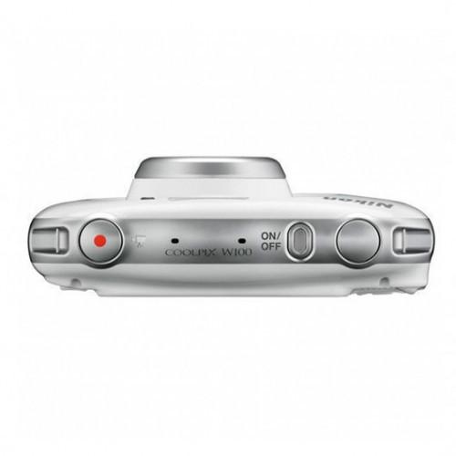 Cámara Digital Nikon Coolpix W100 Blanco 13.2Mpx + Mochila