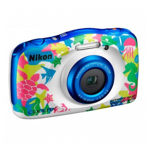 Cámara Digital Nikon Coolpix W100 Marina 13.2Mpx + Mochila