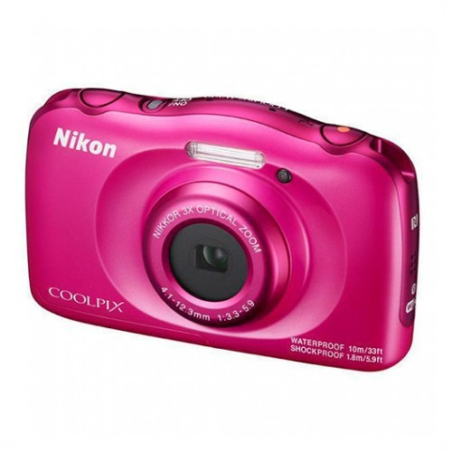 Cámara Digital Nikon Coolpix W100 Rosa 13.2Mpx + Mochila