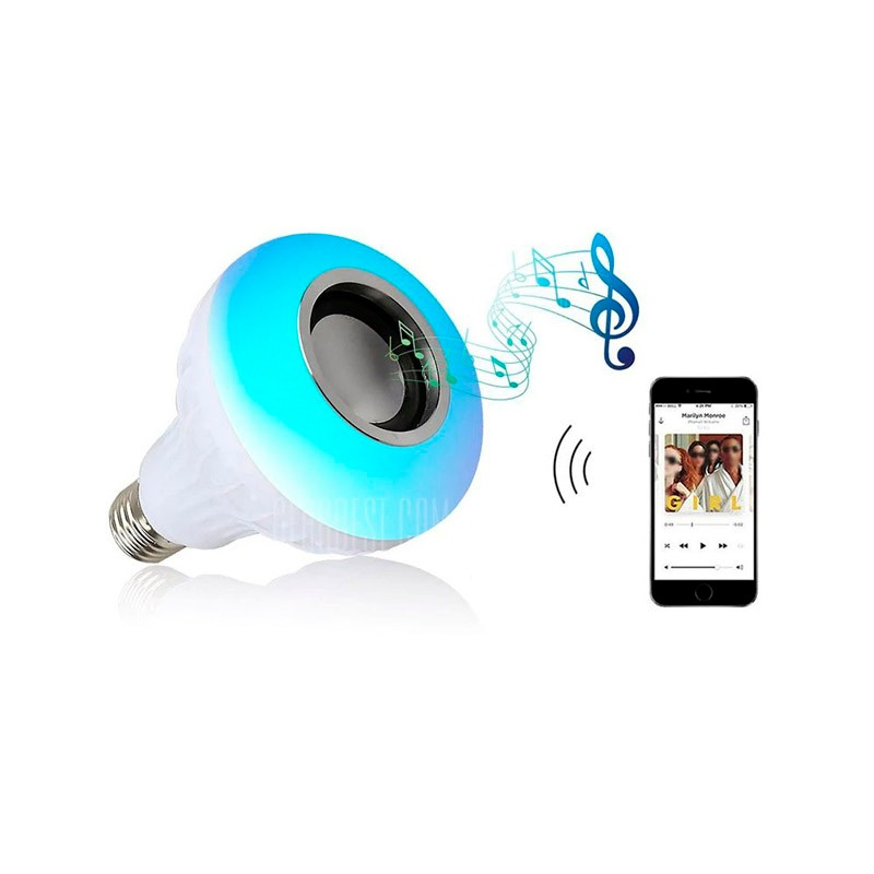 Bombilla LED Multicolor + Altavoz Bluetooth + Mando