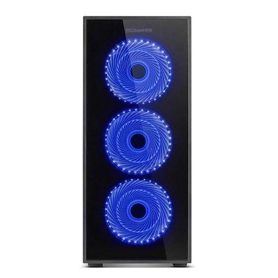 Caja PC ATX NOX Hummer TG Led Azul