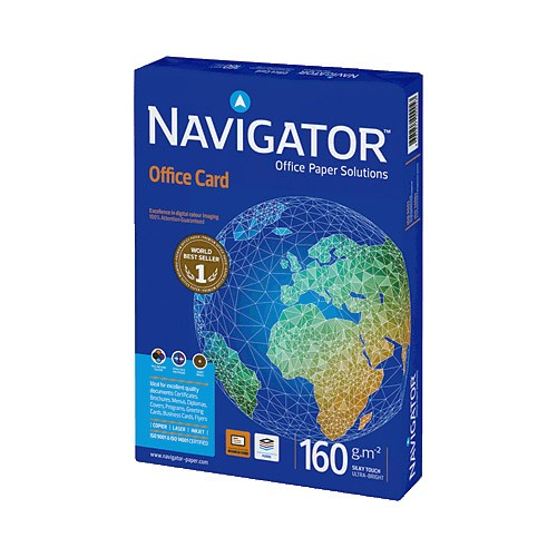 Papel Impresora Laser Navigator Office Card DIN-A4 160g pack 250