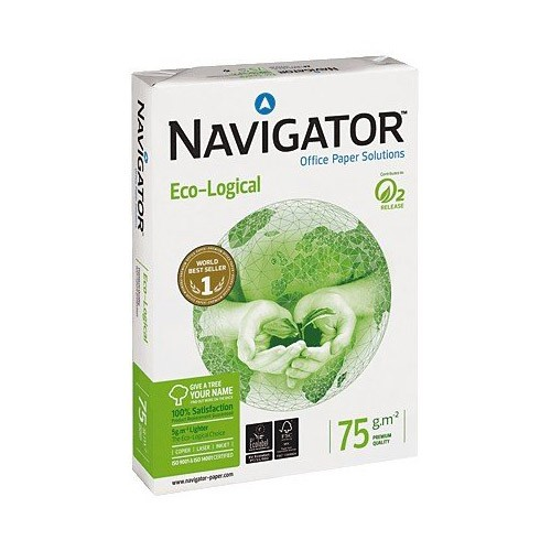 Papel Navigator ECO-LOGICAL DIN-A3 75g pack 500 pcs