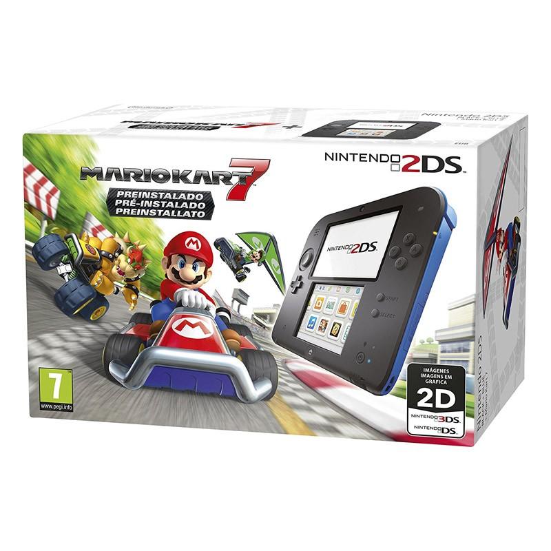 Nintendo 2DS Azul/Negro + Mario Kart 7 (Preinstalado)