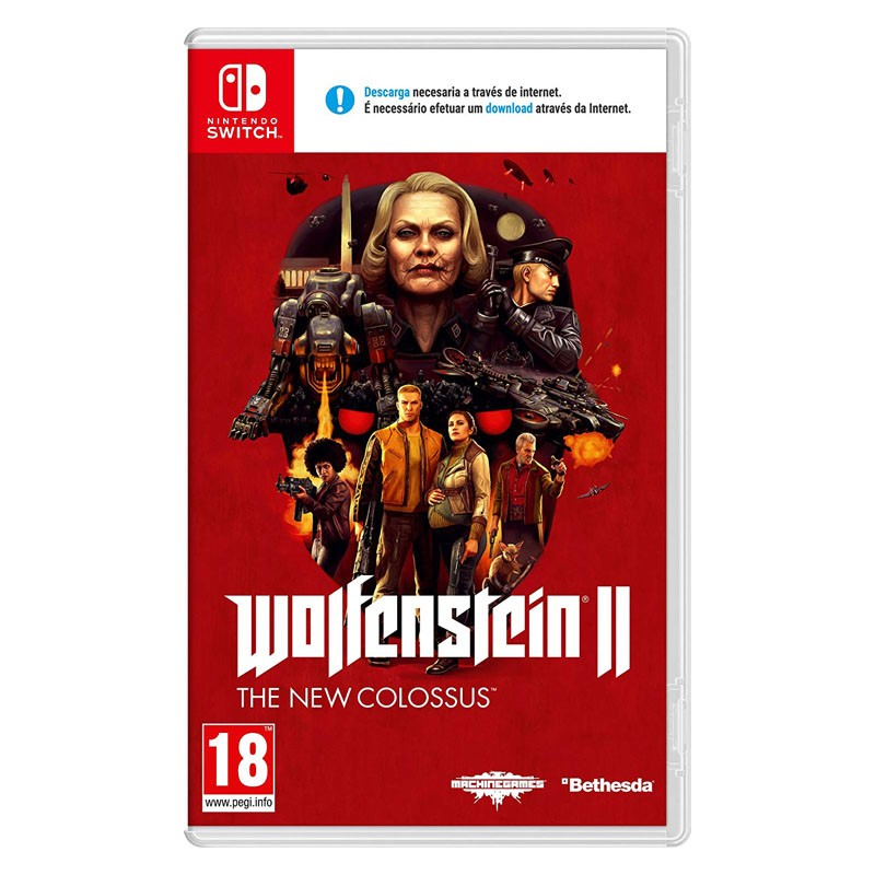 Nintendo Switch Juego Wolfenstein 2 The New Colossus