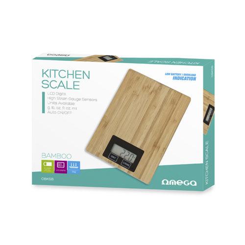 Bascula de Cocina Omega Bamboo