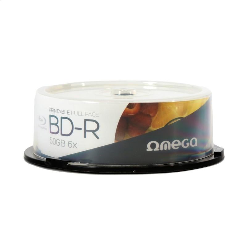Blu-ray BD-R DL 50GB 6X Omega FF Printable Tarrina 25 uds