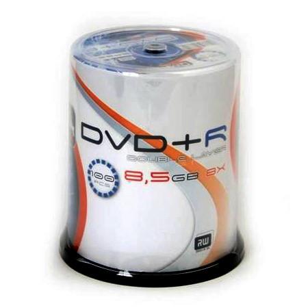 DVD+R Doble Capa 8x Omega Tarrina 100 uds