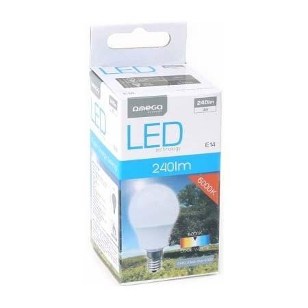 Bombilla LED Omega Comfort 3W 6000K E14 (240lum)