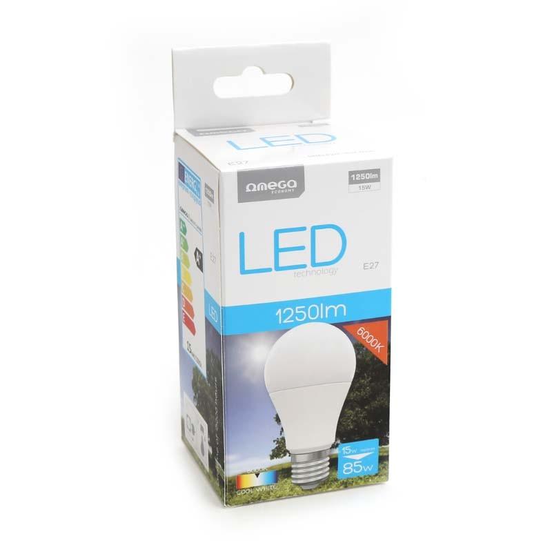 Bombilla LED Omega Eco 15W 6000K E27 (1250lum)