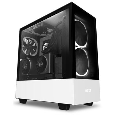 Caja PC ATX NZXT H510 Elite Led RGB Blanco