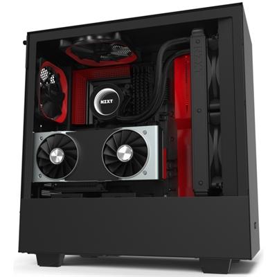 Caja PC ATX NZXT H510i Led RGB Negro/Rojo