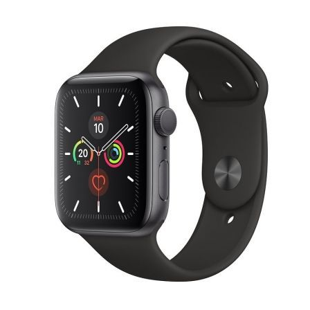 Apple Watch Series 5 GPS 44mm Caja Aluminio Gris Espacial Correa Deportiva Negra