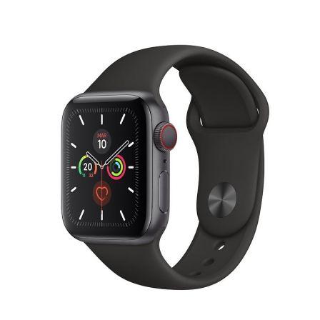Apple Watch Series 5 GPS-CELL 40mm Caja Aluminio Gris Espacial Correa Depor Negr