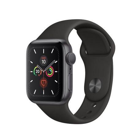 Apple Watch Series 5 GPS 40mm Caja Aluminio Gris Espacial Correa Deportiva Negra