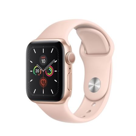 Apple Watch Series 5 GPS 40mm Caja Aluminio Oro Correa Deportiva Rosa Arena