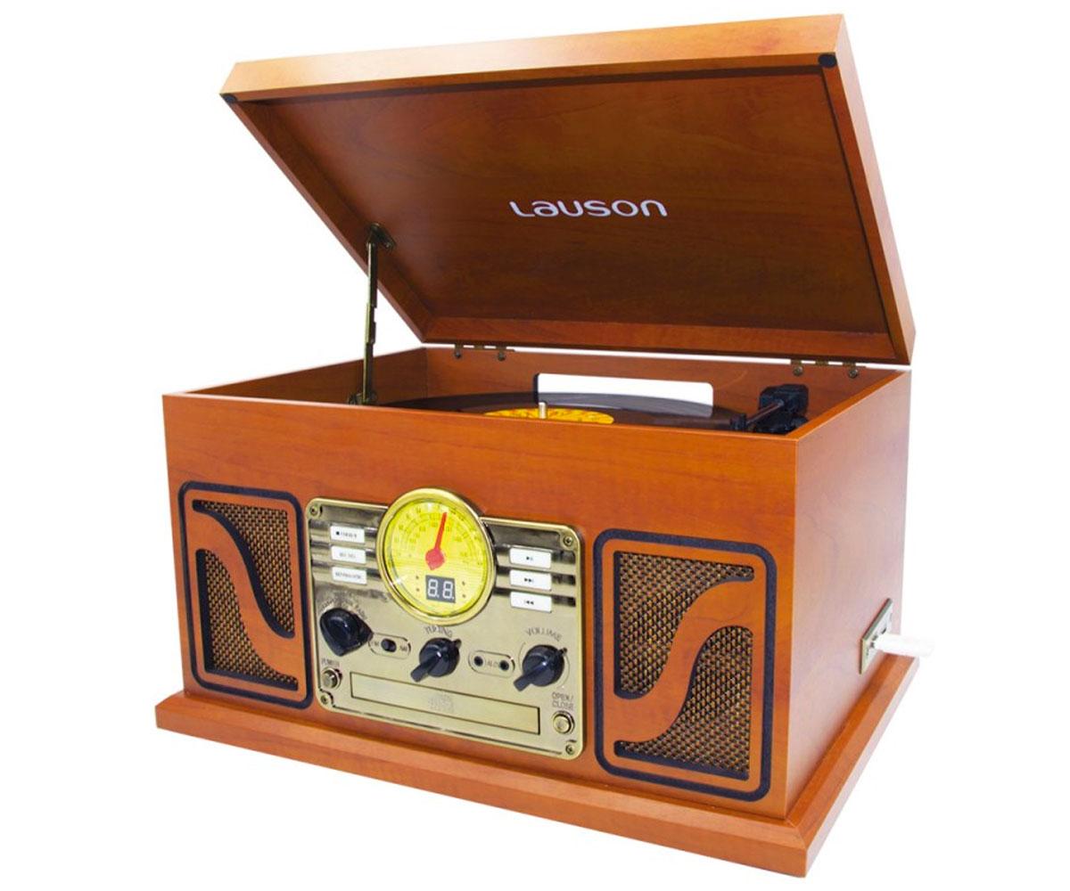 LAUSON CL606 MADERA EQUIPO DE SONIDO CON TOCADISCOS VINILO RADIO FM CD USB MP3 5
