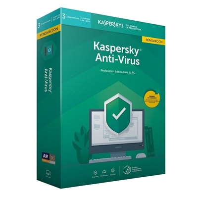 Kaspersky Anti-Virus 2020 3 Dispositivos (Renovación)