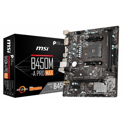 Placa Base MSI B450M-A PRO MAX mATX Socket AM4