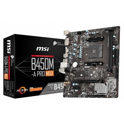 Placa Base MSI B450M-A PRO MAX mATX Socket AM4