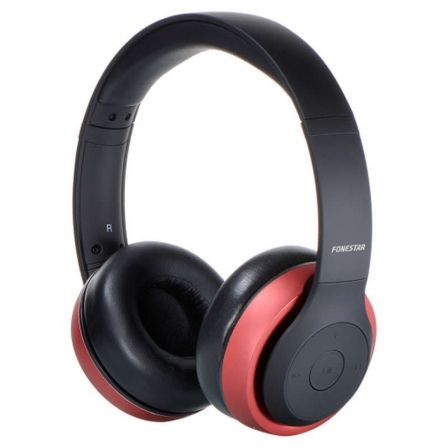 Auriculares Bluetooth Fonestar Harmony Negro / Rojo