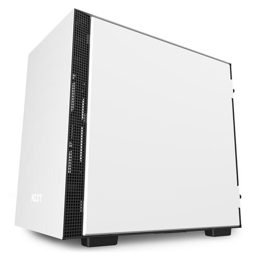 Caja PC Mini ITX NZXT H210i Blanco-Negro Mate