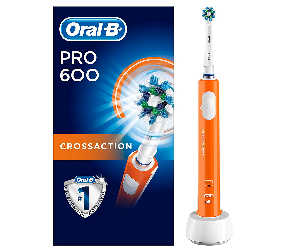 Cepillo Dental Braun Oral-B Pro 600 Naranja