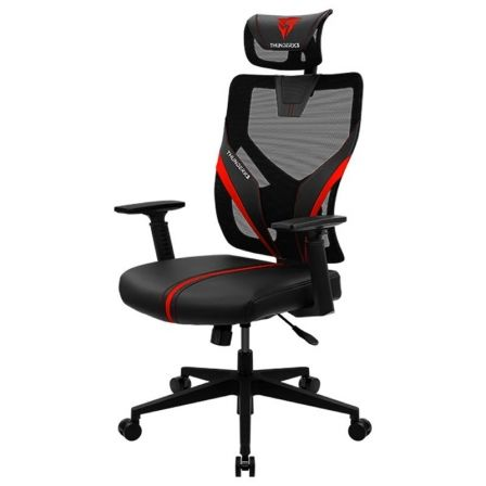 Silla Gaming THUNDERX3 YAMA1 BLACK/RED - MARCO NYLON - RESPALDO Y RESPOSABRAZOS