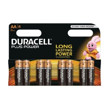 Pila Alcalina AA Duracell Plus Power MN1500B8 pack 8 uds (LR6)