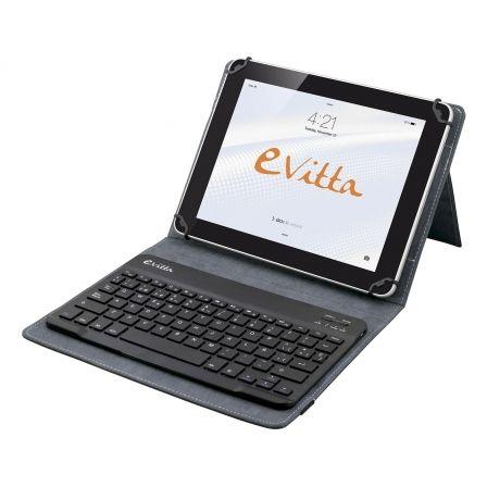 FUNDA CON TECLADO EXTRAIBLE E-VITTA PURE BLACK PARA TABLET DE 9.7/10.1-24.6/25.6