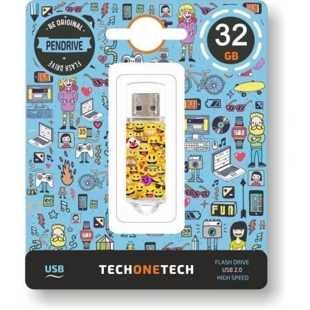 Pendrive 32GB Tech1Tech TEC4501-32 Emojis