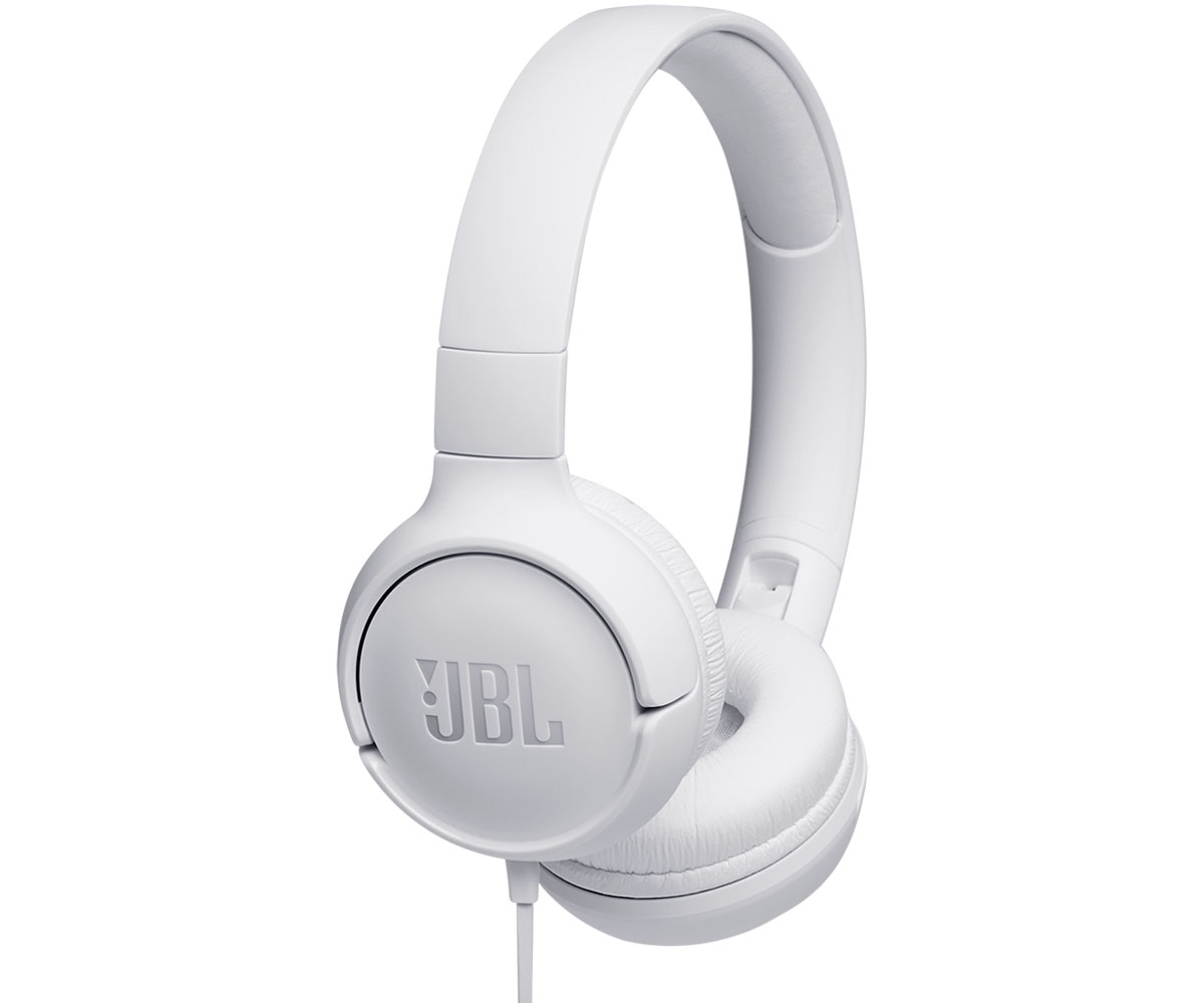 JBL TUNE 500 BLANCO AURICULARES PURE BASS CABLE PLANO SIN ENREDOS