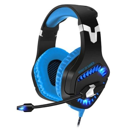 AURICULARES CON MICRÓFONO SPIRIT OF GAMER ELITE-H40 BLUE - DRIVERS 50MM - CONECT