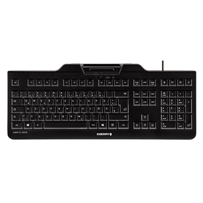 Cherry Teclado+lector chip integrado (DNIe) Negro
