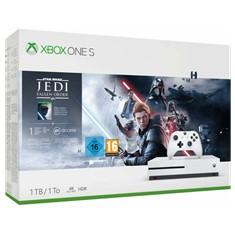 Consola microsoft xbox one s 1tb blanco + star wars jedi fallen order